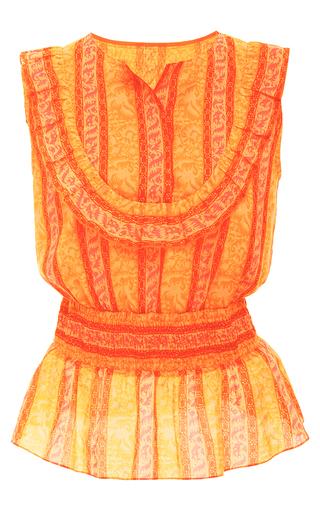 Medium tory burch print sunwise ruffle top