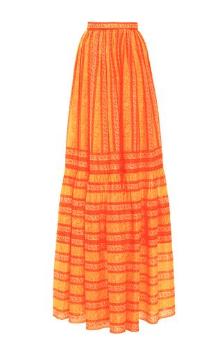 Medium tory burch print sunwise high waisted maxi skirt