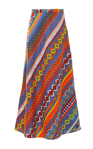 Clemente Embroidered Skirt  by TORY BURCH for Preorder on Moda Operandi