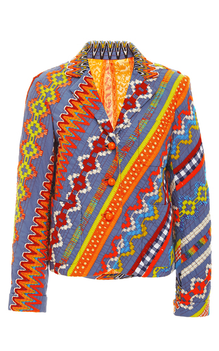 Embroidered Clemente Blazer  by TORY BURCH for Preorder on Moda Operandi