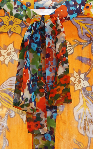 Multiprint Kia Bow Blouse  by TORY BURCH for Preorder on Moda Operandi