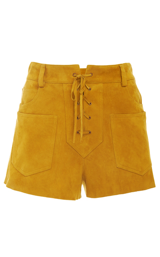 Elyse Lace Up Short  by TORY BURCH for Preorder on Moda Operandi