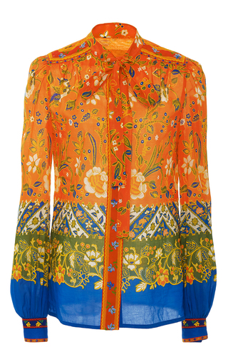 Medium tory burch print dayton bow blouse