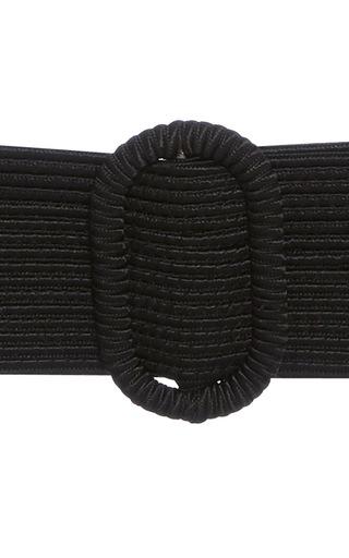 """3"""" Wide Black Belt by OSCAR DE LA RENTA for Preorder on Moda Operandi"""