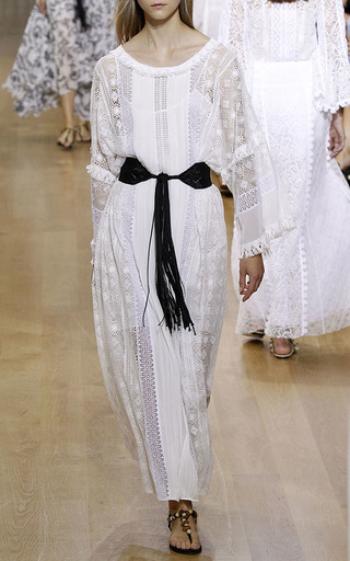 Macramé Waist Belt With Eyelets by OSCAR DE LA RENTA for Preorder on Moda Operandi