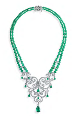 La Esmeralda Emerald Necklace by FABERGE for Preorder on Moda Operandi