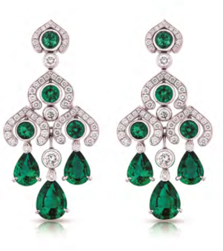 Fabergé Emerald Chandelier Earrings by FABERGE for Preorder on Moda Operandi