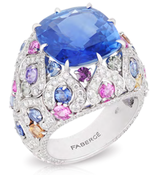 Délices D'Été Blue Sapphire Ring by FABERGE for Preorder on Moda Operandi