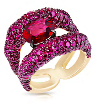 Emotion Charmeuse Ruby Ring by FABERGE for Preorder on Moda Operandi