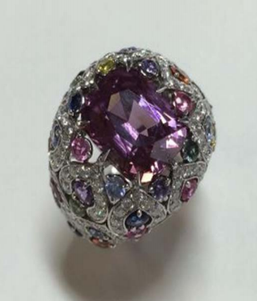 Délices D'Été Pink Spinel Ring by FABERGE for Preorder on Moda Operandi