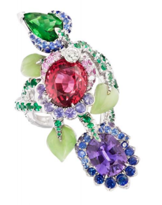 Secret Garden Ruby Ring by FABERGE for Preorder on Moda Operandi