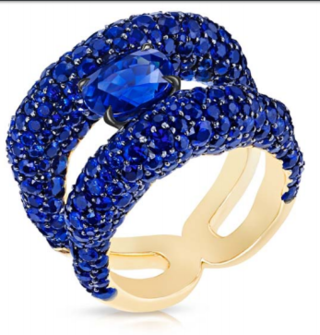 Emotion Charmeuse Blue Sapphire Ring by FABERGE for Preorder on Moda Operandi
