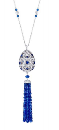 Impératrice Sapphire Tassel Pendant by FABERGE for Preorder on Moda Operandi