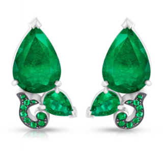 Foliage Two Leaves Earrings by FABERGE for Preorder on Moda Operandi