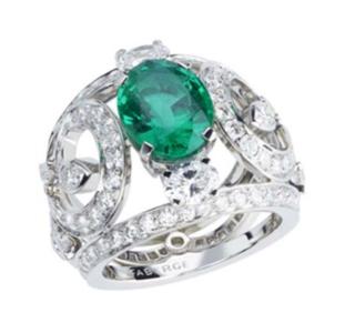La Esmeralda Emerald Ring by FABERGE for Preorder on Moda Operandi