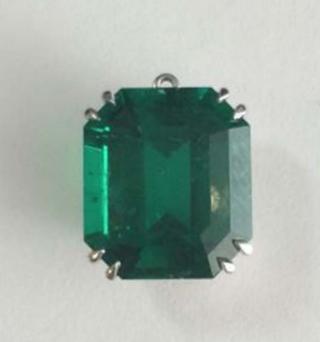 Emerald Octagonal Cut 8.10ct Drop by FABERGE for Preorder on Moda Operandi