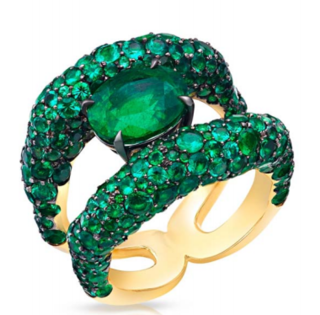 Emotion Charmeuse Emerald Ring by FABERGE for Preorder on Moda Operandi