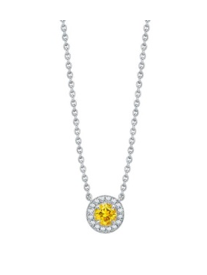 A Platinum Pendant From The Garrard Evermore Collection Set With A Round Fancy Vivid Yellow Diamond And Round White Diamonds.    by GARRARD for Preorder on Moda Operandi