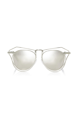 Medium karen walker silver marguerite sunglasses