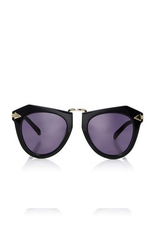 Medium karen walker black one orbit sunglasses