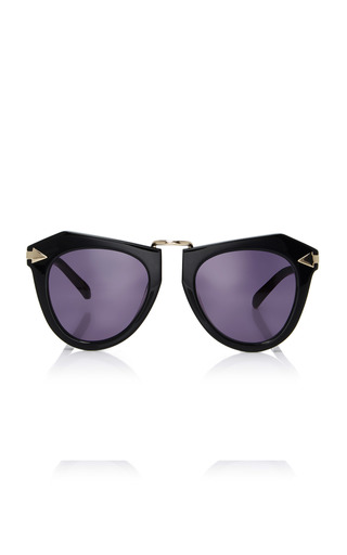 Medium karen walker black one orbit sunglasses