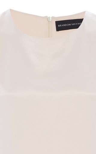 Crepe Back Satin  Tank by BRANDON MAXWELL for Preorder on Moda Operandi