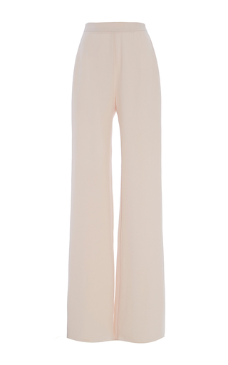 Medium brandon maxwell pink heavy georgette classic trouser with crease
