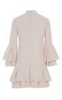Heavy Georgette Ruffle Hem Mini Dress by BRANDON MAXWELL for Preorder on Moda Operandi