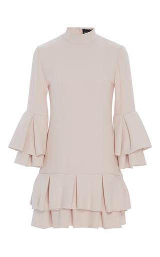 Medium brandon maxwell pink heavy georgette ruffle hem mini dress