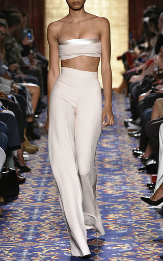 Heavy Georgette Wide Cuff Pant by BRANDON MAXWELL for Preorder on Moda Operandi
