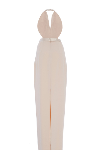 Heavy Georgette And Satin Layered Bodice Gown by BRANDON MAXWELL for Preorder on Moda Operandi