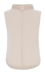 Heavy Georgette Piped Neck Tank by BRANDON MAXWELL for Preorder on Moda Operandi