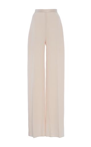 Medium brandon maxwell pink pebbled jacquard classic trouser