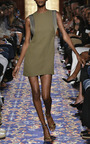 Heavy Georgette And Satin Piped Mini Dress by BRANDON MAXWELL for Preorder on Moda Operandi