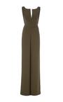 Heavy Georgette V Neck Jumpsuit by BRANDON MAXWELL for Preorder on Moda Operandi