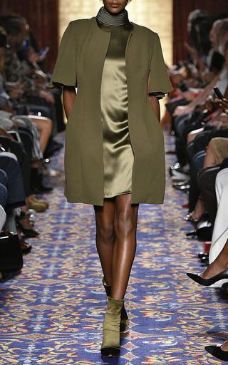 Heavy Georgette Cape Sleeve Jacket by BRANDON MAXWELL for Preorder on Moda Operandi