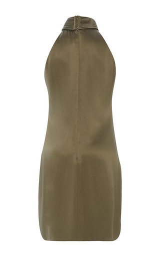 Crepe Back Satin Piped Neck Shift Dress by BRANDON MAXWELL for Preorder on Moda Operandi