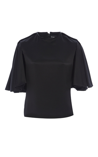Crepe Back Satin Flared Sleeve Top by BRANDON MAXWELL for Preorder on Moda Operandi