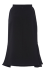 Heavy Georgette Piped Flare Pencil Skirt by BRANDON MAXWELL for Preorder on Moda Operandi