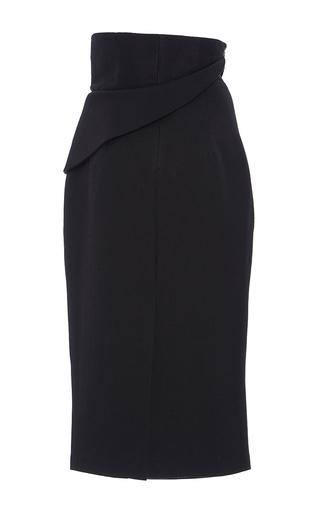 Pebbled Jacquard Folded Waist Skirt by BRANDON MAXWELL for Preorder on Moda Operandi