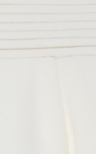Heavy Georgette Bateau Neck Mini Dress by BRANDON MAXWELL for Preorder on Moda Operandi
