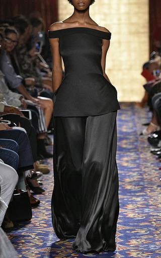 Crepe Back Satin Tent Trouser  by BRANDON MAXWELL for Preorder on Moda Operandi