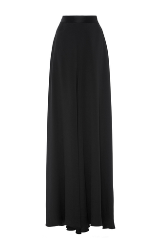 Medium brandon maxwell black crepe back satin tent trouser