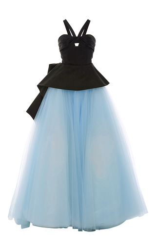 Medium elizabeth kennedy multi cut out peplum tulle ball gown