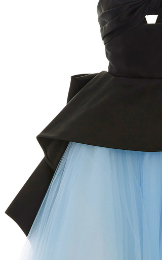 Cut Out Peplum Tulle Ball Gown  by ELIZABETH KENNEDY for Preorder on Moda Operandi
