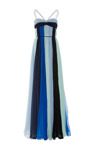 Medium elizabeth kennedy multi monochromatic sunburst pleat gown