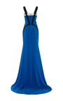 Color Blocked Fitted Gown by ELIZABETH KENNEDY for Preorder on Moda Operandi
