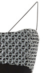 Geometric Embroidered Tie Up Detail Tea Length Cocktail Dress by ELIZABETH KENNEDY for Preorder on Moda Operandi