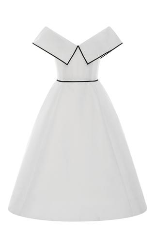 Medium elizabeth kennedy white off the shoulder pleated cocktail dress