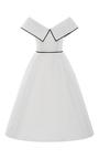 Off The Shoulder Pleated Cocktail Dress by ELIZABETH KENNEDY for Preorder on Moda Operandi